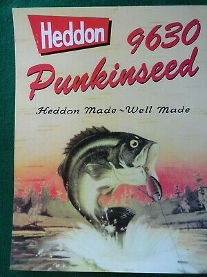 Heddon Fishing Tackle Advertising Poster, Punkinseed Fishing Lure,#9630