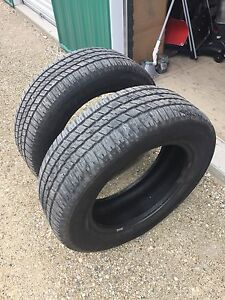 Pair of used Goodyear Wrangler P275/60R20 tires!