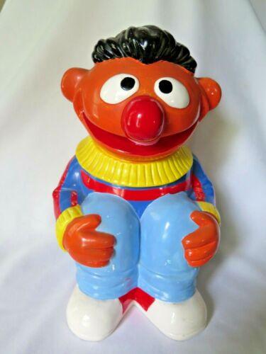 Vintage Rare Ernie Cookie Jar Sesame Street Jim Henson muppets  1970