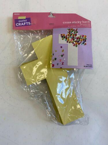 "1 pack of 24 sticky back cardboard crosses Teacher Supply Sunday school 5""x6.9"""