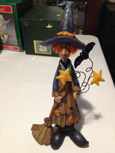 """VTG Delton Products Halloween Witch Figurine 11"""""""