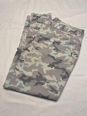 GAP Skinny Mini Khakis size 8 Gray Camo Print