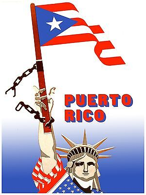 Liberty Puerto Rico - High Quality POSTER on Paper or Cotton Canvas.Art Decor.Puerto Rico.Liberty.3895