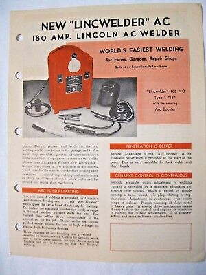 Lincoln A. C. 180 Amp Welder Brochure