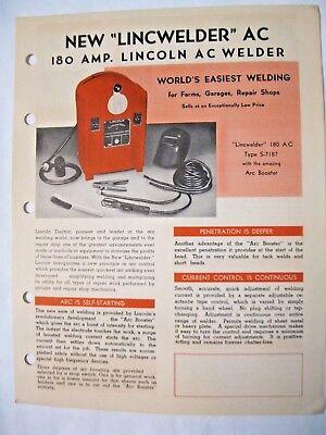 Lincoln A. C. 180 Amp Welder Brochure