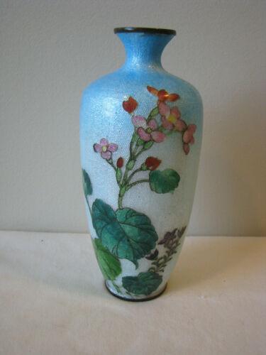 Antique Japanese Ito Soemon Ginbari Foil Cloisonne Vase