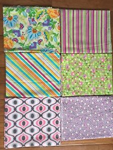 Lot of 6 Fabrics 1 yard each