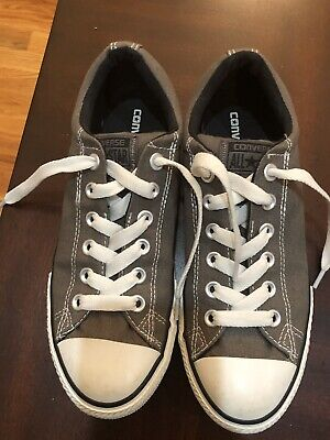 Converse All Stars Kids Size 4.5 Or Women's 6.5 Gray Gently Used