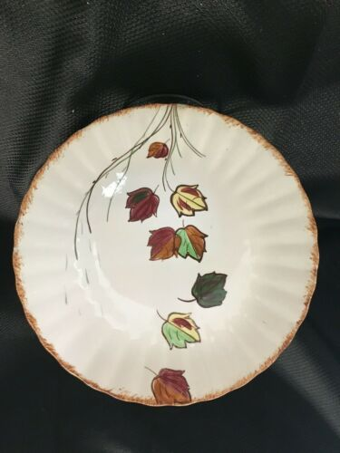 Blue Ridge Southern Potteries Plate Falling Leaves Plate 10 Inches