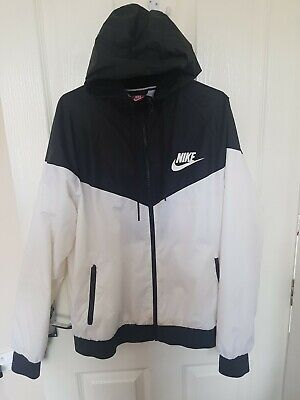 Nike Jacket  - white and black Large but will fit med