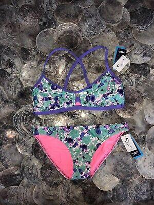 Blume 2 Stück Badeanzug (Nwt Speedo Missy Franklin Ausdauer Blumenmuster Träume Bikini Badeanzug 2 Stück)