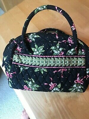 VERA BRADLEY NEW HOPE BREAST CANCER PINK RIBBON MAKEUP PADDED HANDLE PURSE