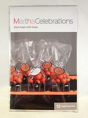 Martha Stewart Celebrations Halloween Set of 12 Gravestone Treat Bags and Trays - Martha Stewart Halloween Treat Bags