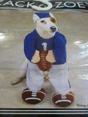 ZACK & ZOEY FOOTBALL FEVER DOG PET COSTUME SZ L CLOTHES SWEATER UNIFORM NEW](Dog Football Costume)