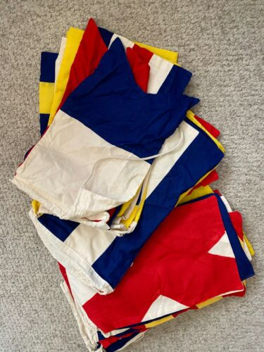 Set of 40 High Quality Nautical Signal Code Flags Pennants 100% Cotton