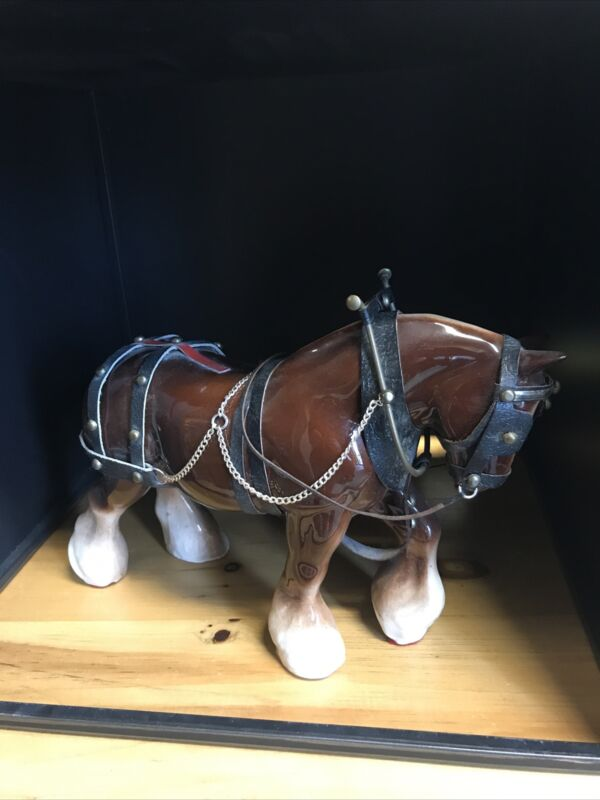 Clydesdale Ceramic Vintage Horse Preowned