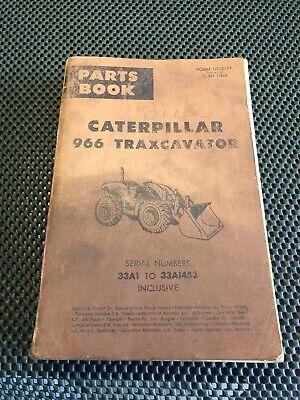 Vintage Caterpillar 966 Traxcavator 33a1 To 33ai453 Form Ue35184