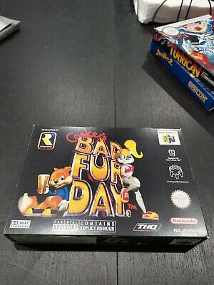 N64 CONKERS BAD FUR DAY PAL BOX ONLY NO GAME NO MANUAL