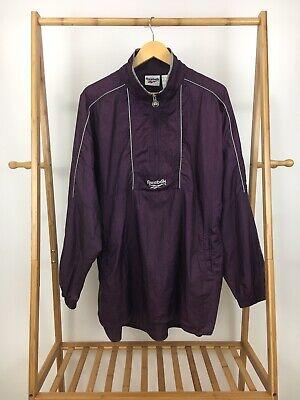 VTG 90s Reebok Men's 1/2 Zip Pullover Track Parka Windbreaker Jacket Size L Reebok Nylon Parka