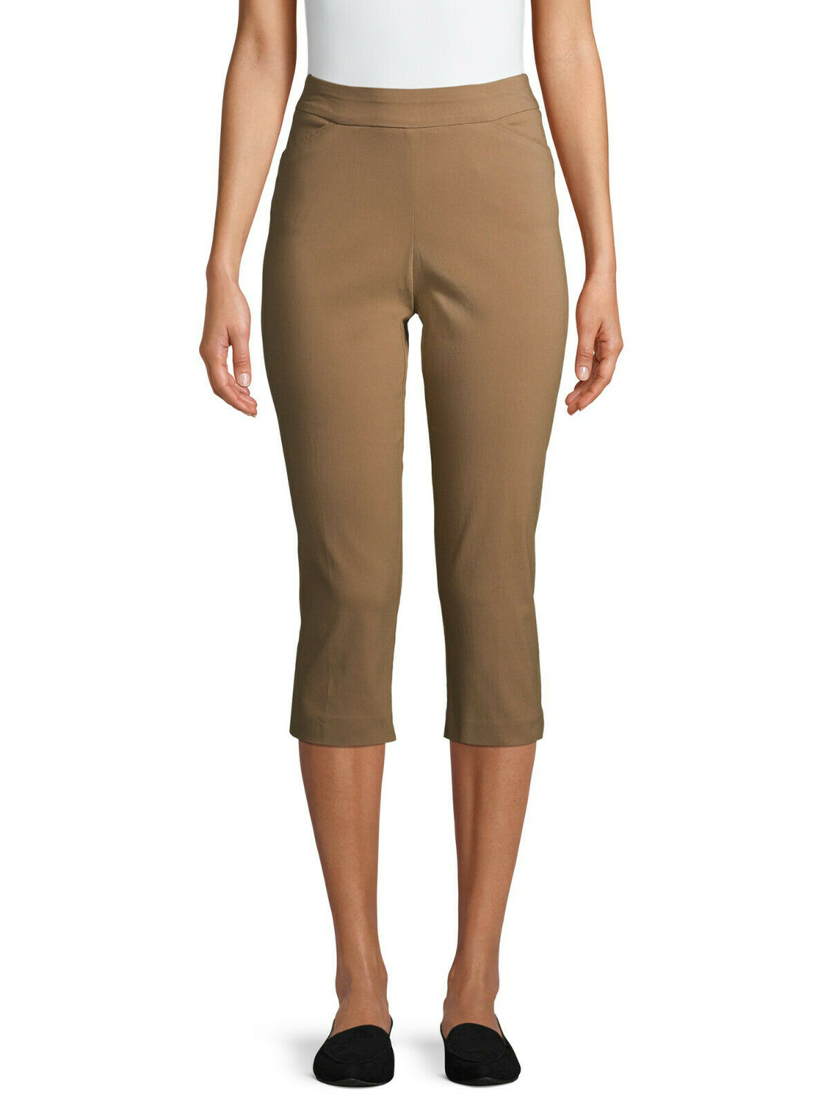 ***NEW TIME & TRU MID RISE STRETCH MILLENNIUM CAPRIS TOASTED BROWN XL Clothing, Shoes & Accessories