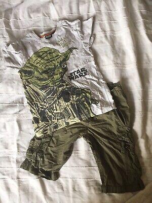 Outfit für Jungen - Kombination aus Shorts und T-Shirt mit Star Wars Motiv