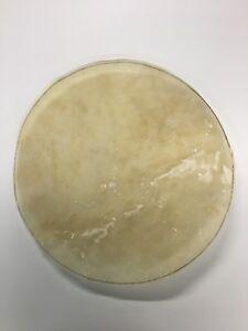 "Natural Calf Skin Replacement Drum Head 12"" Cuero/Parche Natural Para/for Bongo."