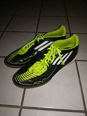 Adidas F50 F10 Soccer Indoor Shoes Men's Size 11 Black - Lime Green Non-Marking  Lime Green Soccer Shoes