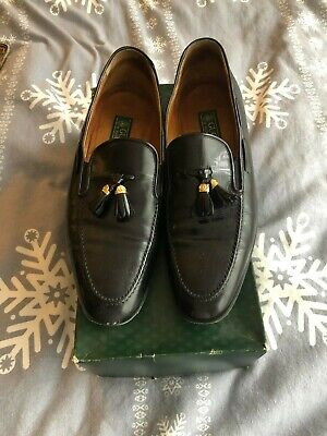 Gucci Genuine Vintage Black Leather Men's Loafers