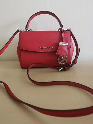Michael Kors Ava Extra Small Cross Body Bag Red