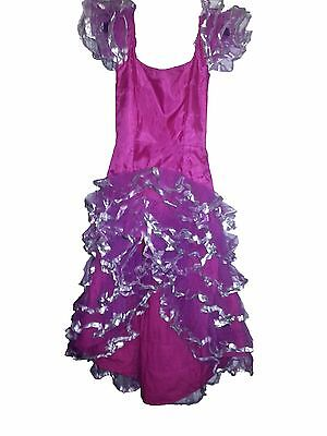 WOMENS' ENTERTAINMENT SHOW STYLE DANCE COSTUME | HOT  PINK |CUBAN RUMBA  SIZE 7