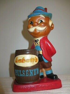 Vintage Breweriana Advertising Labatts Pilsner Beer Plastic Swizzle Stick Holder