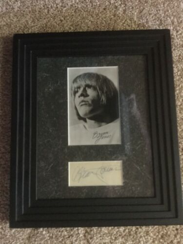 Rolling Stones Brian Jones autograph and photo display