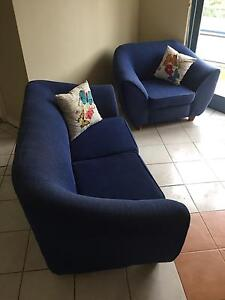 SOLD - Blue 3 seater + 2 seater + 1 seater sofas Roseville Chase Ku-ring-gai Area Preview