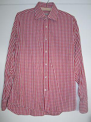 Men's Katharine Hamnett Red Checked Shirt 41/16