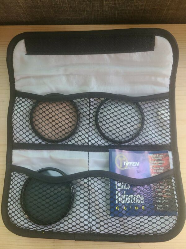 Tiffen 3 Filter Kit, 58mm UV 812 Polarizer Camcorder Lens Kit Flawless