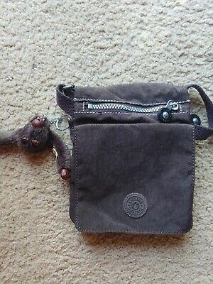 Kipling El Dorado Nylon Crossbody Mini Travel Bag Brown Flap
