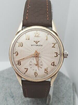 Vintage WITTNAUER 11AN Automatic Men's watch 10K gold filled 1960s