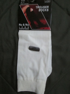Nylon Spandex Knee High Socks (Trouser Socks. Knee-high. Ivory. Size 9-11. Ivory. Nylon/Spandex )
