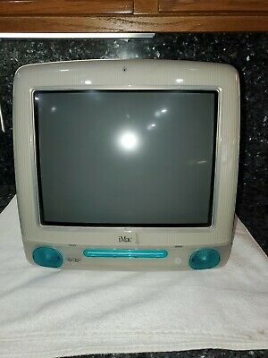 Apple G3 Teal Blue iMac 1999 Computer ONLY Working condition