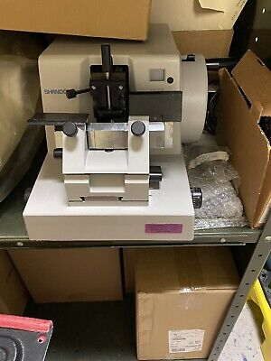 Thermo Shandon Finesse 325 Manual Rotary Microtome With Tray And New Blades