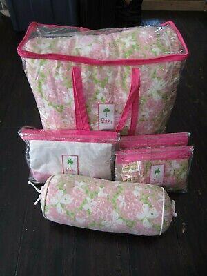 Lilly Pulitzer Butterfly Garden Queen Comforter Bedskirt 2 Pillow Sham Neck Roll Garden Queen Comforter