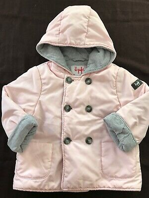 Il Gufo (Italy) EUC Pink/Grey Hooded Jacket - 18 Months