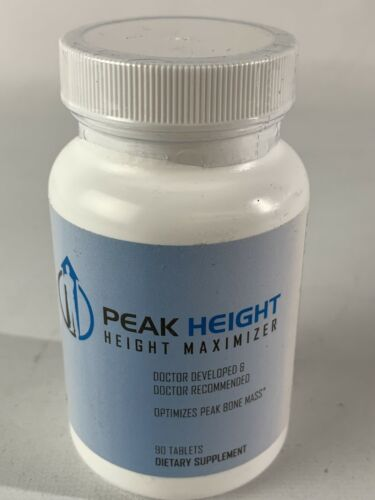 Peak Height Height Maximizer Optimizes Peak Bone Mass - 90 Tablets EXP 08/2022