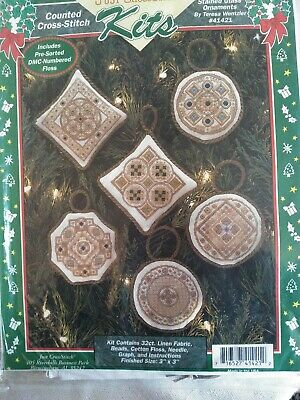 Stained Glass Cross Craft (Teresa Wentzler Stained Glass Ornaments counted cross stitch kit ,)