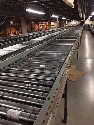 "28"" Buschman Power Accumulation Roller Conveyor 12' Long, 36"" Zones, Many Avail!"