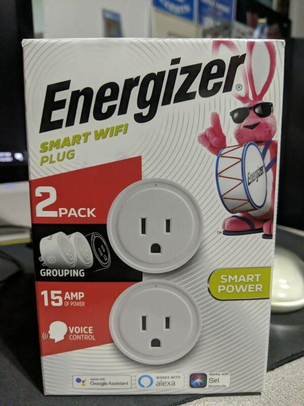 Energizer Smart Wifi Plug 2 Pack Factory Sealed! Voice Control, Alexa, Siri