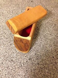 Decorative Wooden Box - Hand Made from one piece of Live Edge