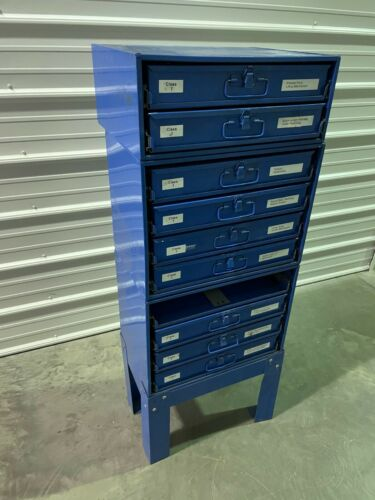 Fastenal Stacking Blue Steel Storage Parts Cabinet w/ Removable Drawers #1