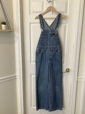 VTG 90'sCalvin Klein Bib Overalls Small Womens Blue Denim CK Jeans Carpenter