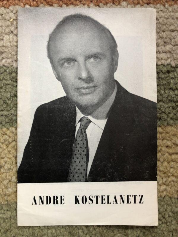 London Concert Programme Andre Kostelanetz 1956 Royal Philharmonic Orchestra